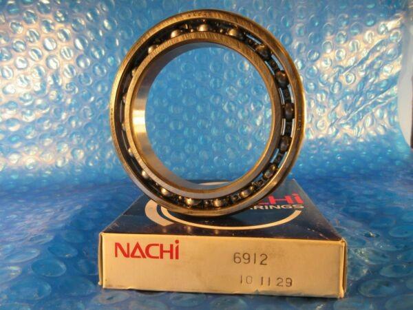 Nachi 6912 Radial Ball Bearing, (NSK, KOYO,NACHI, FAG, SKF 61912)