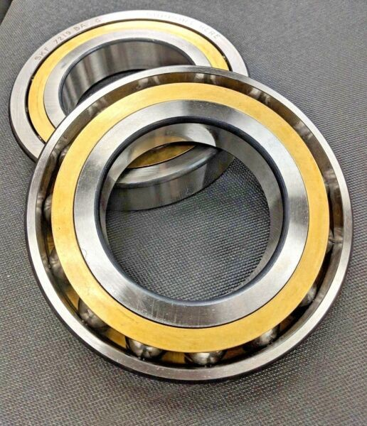 SKF, 7219 BAMCG, 7219 BECBM, Angular Contact Bearing - 95mm Bore - Brass - Open