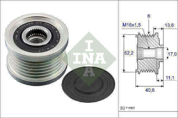 Overrunning Alternator Pulley fits NISSAN X-TRAIL T30 2.5 01 to 13 QR25DE Clutch