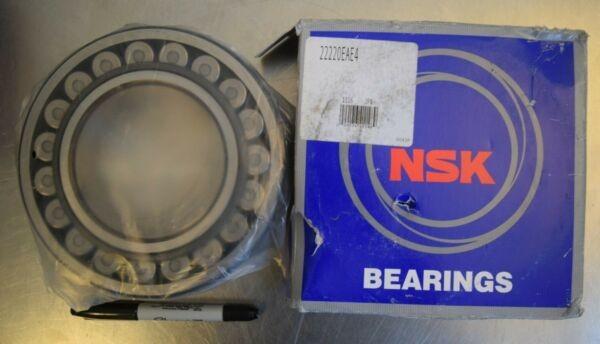 NSK 22220EAE4 Spherical Roller Bearing - 100mm Bore x 180mm O.D. x 46mm Wide NEW