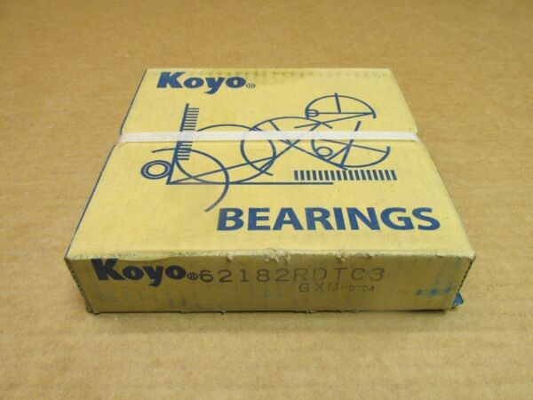KOYO 62182RDTC3 BEARING RUBBER SEALED 6218 2RDT C3 6218-2RS-C3 90x160x30 mm