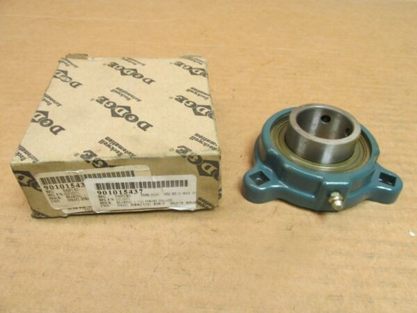 NIB DODGE LF-SC-107 3 BOLT FLANGE BEARING UNIT LFSC107 SC 1-7/16