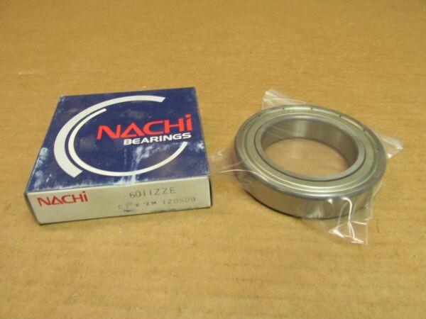 NACHI 6011ZZEC3 BEARING METAL SEALED 6011 ZZ E C3 6011-ZZ-C3 5x90x18 mm JAPAN