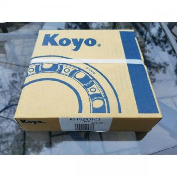 Koyo  Single Row Radial Bearing, 75 mm ID x 160 mm OD x 37 mm Wide 63152RDTC3