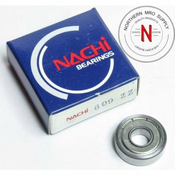 NACHI 609-ZZ DEEP GROOVE BALL BEARING, 9mm x 24mm x 7mm, FIT C0, DBL SEAL