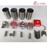 komatsu forklift engine rebuild 4D94LE piston+ring liner gasket bearing valve