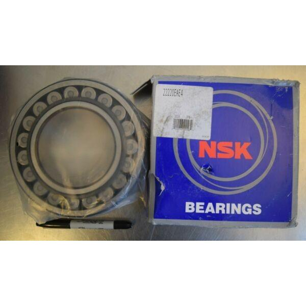 NSK 22220EAE4 Spherical Roller Bearing - 100mm Bore x 180mm O.D. x 46mm Wide NEW #1 image