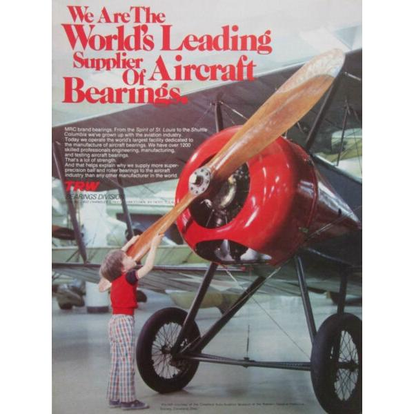 8/1981 Adv TRW Aircraft Bearings Aviation Museum Cleveland Ohio Original Ad #1 image